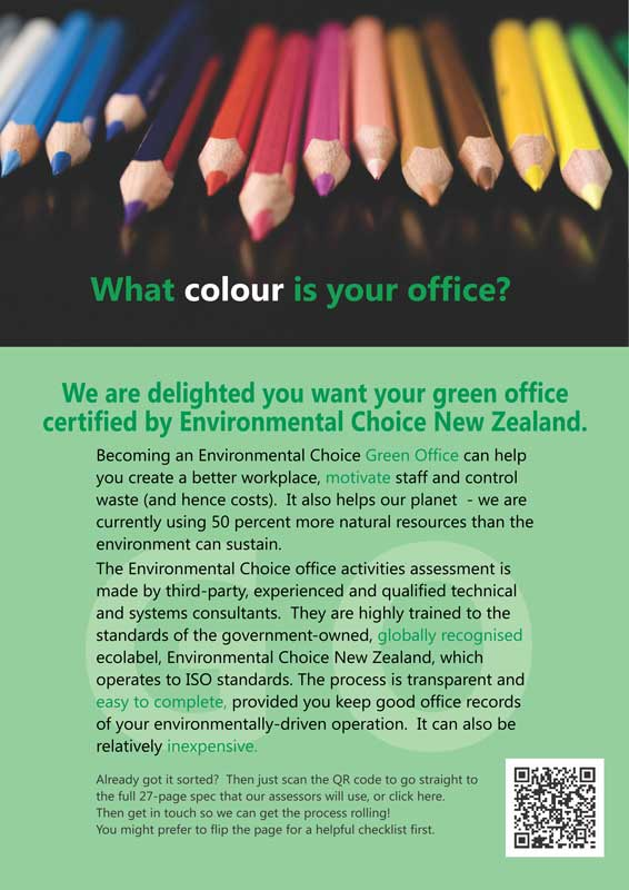 img ecnz 2015 guide for green office applicants